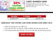 12bet khuyến mãi number game