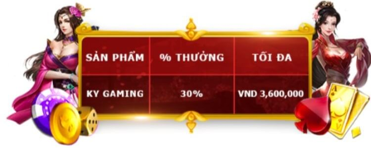 Thưởng chào mừng KY Gaming 12Bet