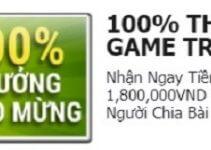 thưởng đăng ký game trực tuyến