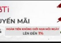 Khuyến mãi chào thưởng 88% mừng BTI Thể Thao