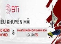 Khuyến mãi chào mừng 88% khi tham gia Bti Thể Thao
